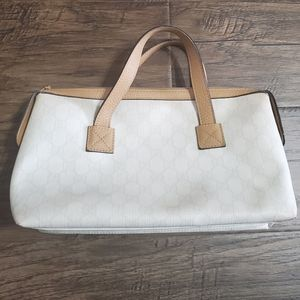 Gucci GG coated canvas satchel bag authentic